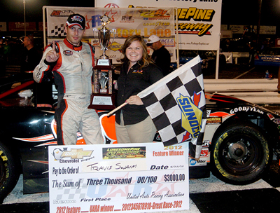 Travis Swaim Celebrates In Victory Lane For The Courtesy Chevrolet Kingsport 150 Karnac Racing News