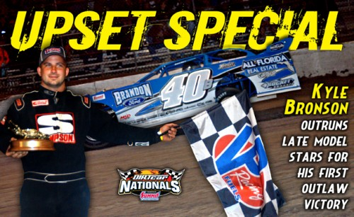 Florida's Kyle Bronson Pulls Off World of Outlaws Late Model Series Shocker In DIRTcar Nationals by Summit Finale