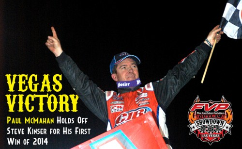 McMahan Shrinks His Bucket List with Las Vegas World of Outlaws STP Sprint Car Series Victory