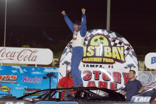 Bryan Bernhardt Back In Victory Lane Winning Late Model Feature At East Bay Raceway Park