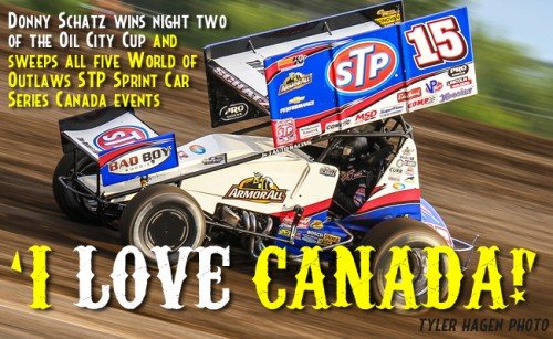 Schatz Sweeps Canada with Oil City Cup Win