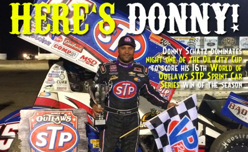 A Dominate Night at Castrol Raceway Gives Donny Schatz His 16th Win of the Season