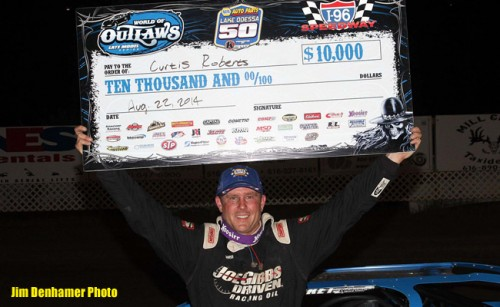 Curtis Roberts Enjoys Dream Night at I-96 Speedway, Scores First World of Outlaws Late Model Series Victory