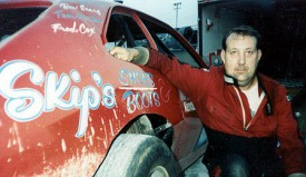 Bobby Sears dominated Mini Stock racing at New Smyrna and Orlando for many years - this photo from 1990 - The sponsor on his  Pinto was Skip Patsos of