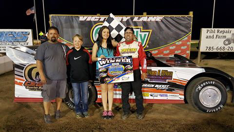 Chris Kratzer of Haysville, KS drove the #55 Wichita Tire and Alignment Special to his second straight NeSmith Chevrolet Weekly Racing Series Late Model win of the season on Friday night at Salina Speedway in Salina, KS.  (Salina Speedway Photo)