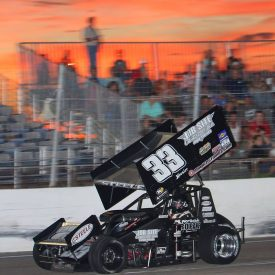 Irwindale Sprint Car Race  Accident
