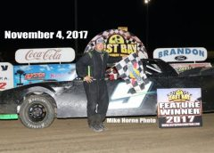 BRAIN MORGAN WINS FALL SPECTACULAR FOR HOBBY STOCKS AT EAST BAY RACEWAY PARK