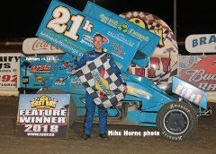 Kennedy Blows Through Traffic for Night 1 ASCS 360 Sprint Win at East Bay Raceway Park