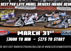 FASTRAK Returns to Action at Screven March 31st with Over $12,000 in Total Purse Money