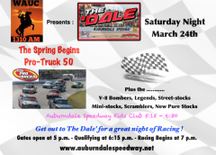 PRO TRUCKS RETURN FOR 50 LAPS AS PART OF 7 DIVISION SHOW AT AUBURNDALE SPEEDWAY