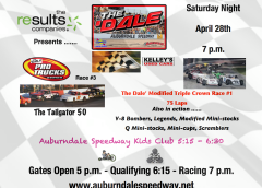EIGHT CLASSES ON TAP SATURDAY NIGHT AT AUBURNDALE SPEEDWAY INCLUDING MODIFIEDS AND PRO TRUCKS