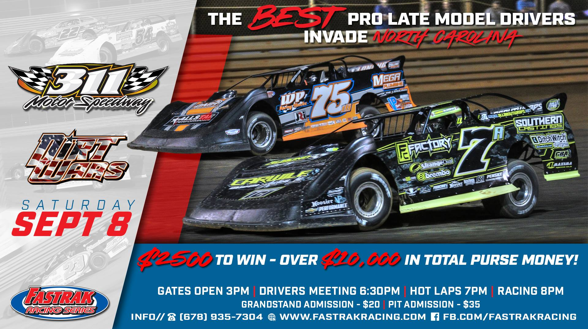 The FASTRAK Racing Series powered by Chevrolet Performance will hit the high banks of 311 Motor Speedway this Saturday night for $2,500 to win as part of ...
