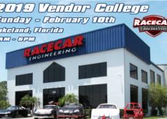 RACECAR ENGINEERING ANNOUNCES FEBRUARY 2019 'VENDOR COLLEGE' EVENT